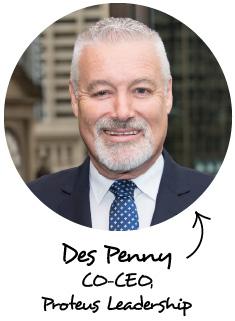 Des Penny - CO-CEO, Proteus Leadership